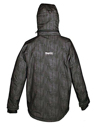 Deproc Active Herren Softshell-Skijacke und Winterjacke für CHICOPEE Black Print