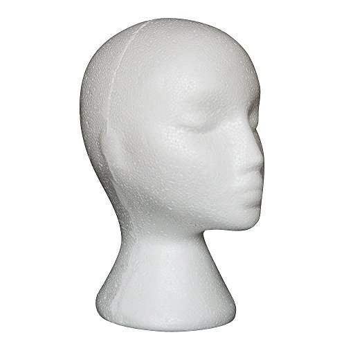 Muamaly Styroporkopf, Perückenkopf, Ständer für Kopfhörer, Perücken, Hüte, Schmuck-Display