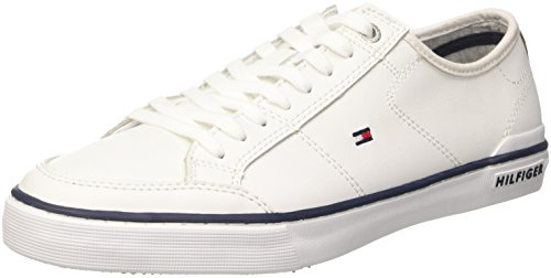 Tommy Hilfiger H2285arrington 2a, Pompes à plateforme plate homme Bianco (White (100))