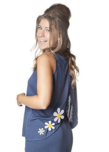 COMOUNAREGADERA Damen Top Coli-Flor Blau