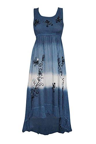 Mogul Interior Damen Cocktail Kleid Blau