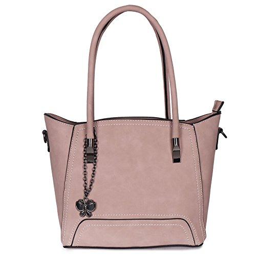 Butterflies Women Handbag (Pink) (BNS 6317#PK)