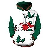 LUOYLYM Langärmliges Hemd Mantel Weihnachten 3D Digitaldruck Größe Lose Mit Kapuze Paar Pullover Qydm265 XXL/XXXL