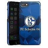 DeinDesign Premium Case kompatibel mit Apple iPhone 7 Hülle Handyhülle FC Schalke 04 Muster Offizielles Lizenzprodukt