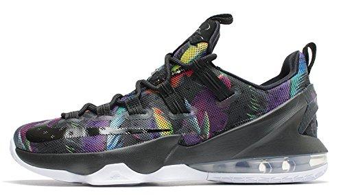 Nike Lebron Xiii Low, Scarpe da Basket Uomo Black (Nero / Nero-Bianco-Volt)