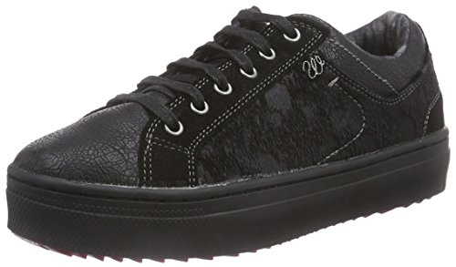 Wrangler Sheena Low, Low-Top Sneaker donna, Nero (Schwarz (62 Black)), 37
