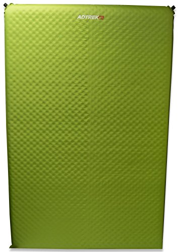 Adtrek Selbstaufblasbare Isomatte/Matratze für Camping - Für 2 Person - Grün - 5 cm