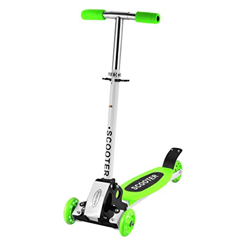 Befied Kinder Scooter Verstellbare Faltbare Roller Scooter Höhenverstellbare 3 Räder Grün (One size)