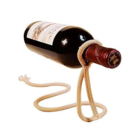 Magic Rope Porte-bouteille de vin Creative Floating Illusion Rack Simple Snake Bend Shape Red Wine Stand Salon Salle à manger Cabinet Wine White Light Brown Vin Rouge Couleur ( Color : White )