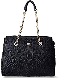 Cavalli Class Medium Shopping Bag Blossom CRC005 Black 24d26b740b4