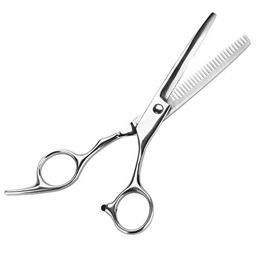 Effilierschere haarschere , Repou Modellierschere Haarschere Haarschneideschere mit einseitiger Zahnung 6.7 Zoll rostfreiem Edelstahl