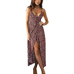 Vestidos Mujer Verano Largos Vintage Bohemio Estilo Etnica Estampados Elegantes Sin Mangas V Cuello Ajustado Hippies Casual Vestidos Playa Vestidos Largos Vestidos Camiseros