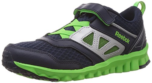 Reebok Baby Boy's Realflex Speed 3.0 Blue and Green Mesh Sports Shoes - 1 UK