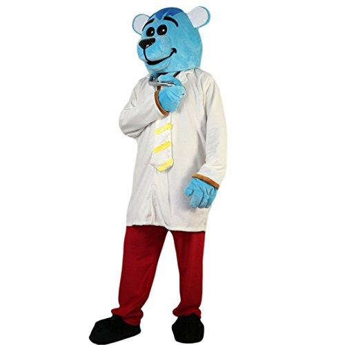 Langteng blau Maus Doctor Cartoon Maskottchen Kostüm Echt Bild 15–20Tage Marke