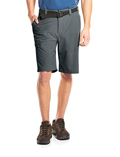 MAIER SPORTS Herren Bermuda, Outdoorhose/ Funktionshose/ Shorts inkl. Gürtel, bi-elastisch, schnelltrocknend und wasserabweisend, Grau (graphite/949), Gr. 46