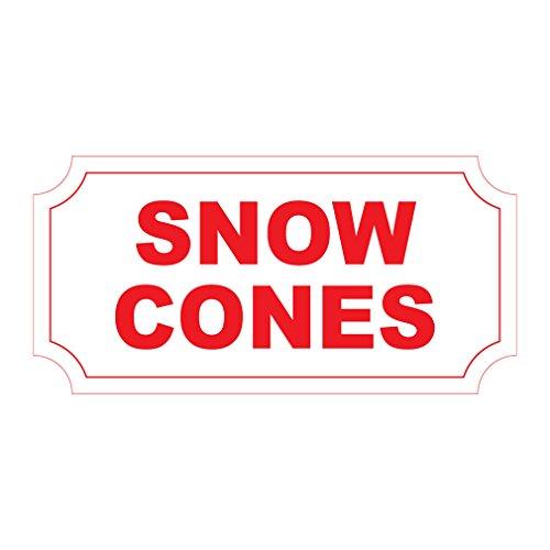 Snow Cones Rot Retro Vintage Stil Metall Schild-20,3x 30,5cm mit Löchern - Vintage Snow Cone