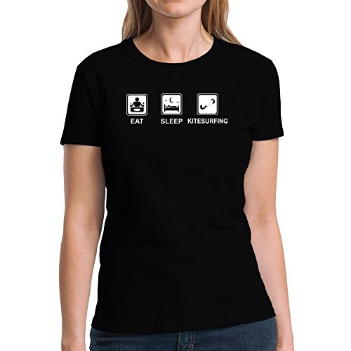 Eddany Eat sleep Kitesurfing Damen T-Shirt