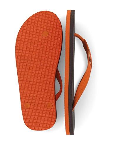 Tongs Feelfine'z Amsterdam, marron - orange, caoutchouc naturel, thongs jusqu'a la taille 49/50 marron – orange