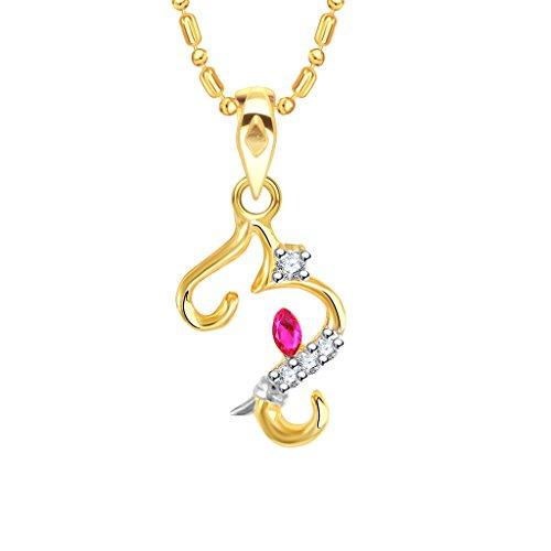 V. K. Jewels Gold Alloy Pendant Necklace For Unisex