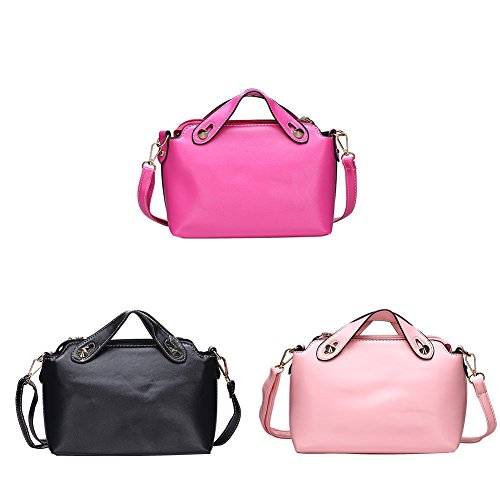 Faysting EU borsa a tracolla donna vari colori scelti PU pelle buon regalo nero