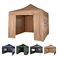 MAXIMUS® HEAVY DUTY GAZEBO 3m x 3m GAZEBO MARKET STALL POP UP TENT With 4 Sides (Black) 16