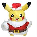 hjcly Weihnachten Pikachu Cosplay Weihnachtsmann Plüschtier 30 cm, Cartoon Anime Gefüllte Puppe Für Kinder Geschenk