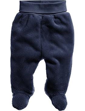 Schnizler Unisex Baby Hose, Kuschelfleecehose mit Strickbund, Oeko-Tex Standard 100