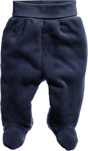 Schnizler Unisex Baby Kuschelfleece-Hose mit Strickbund, Oeko-Tex Standard 100, Blau (Marine 11), 68 (Hose Jungen Gefütterte Fleece)
