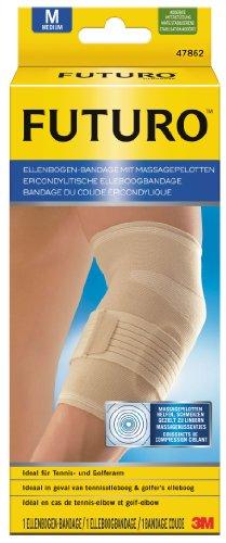 FUTURO FUT47862 Classic Ellenbogen-Bandage, beidseitig tragbar, Größe M, 24,5 - 27,0 cm