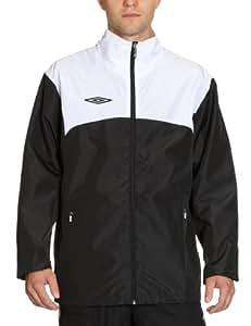 Umbro Men's Training Rain/Shower Jacket - Black/White, Large