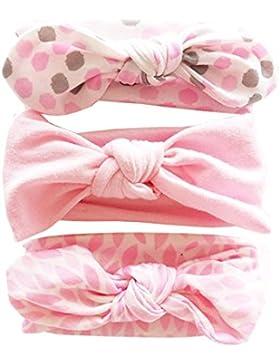 Vellette Baby Mädchen Stirnbänder verknotete Baby Stirnbander Baby Top Knot Madchen Turban Headwrap Knot Stirnband...