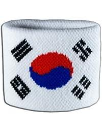 Digni® Poignet éponge avec drapeau Corée du Sud