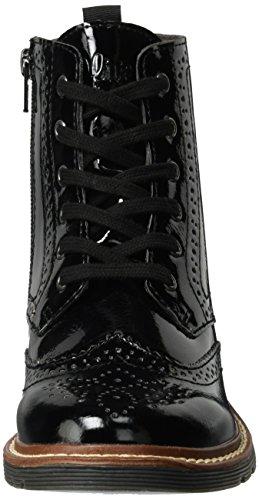 s.Oliver 25465, Stivali Combat Donna Nero (Black Patent)
