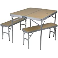 10T Portable Bench Mesa de Camping, Unisex, Plateado, Estándar