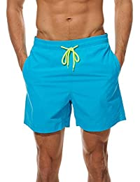 3ed09e9794 Men's Beach Shorts Quick Dry Waterproof Sports Shorts Bathing Suit Swim  Trunks