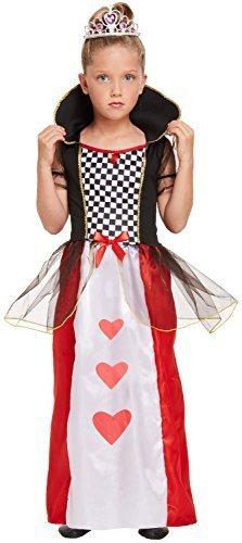 Fancy Me Mädchen Herz Königin Wunderland Alice Welttag des buches-Tage-Woche TV Buch Film Kostüm Kleid Outfit 4-12 Jahre - 4-6 Years