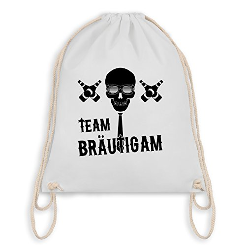JGA Junggesellenabschied - Team Bräutigam Totenkopf - Turnbeutel I Gym Bag Weiß