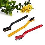 Royals® 3 Pc Mini Wire Brush Set,Cleaning Tool Kit - Brass, Nylon, Stainless Steel Bristles