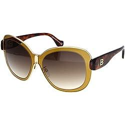 Balenciaga Für Frau 0003 Shiny Light Brown / Tortoise / Gradient Brown Metallgestell Sonnenbrillen