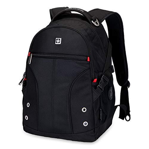 Rucksack Herren | Laptop Notebook Rucksack 15 Zoll Schwarz | Daypack Schulrucksack für Männer Schul Jungen Teenager