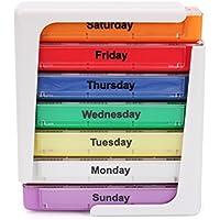 MotGlobal Pillenbox 7 Tage 28 Fächer Kunststoff Tablettenbox Pillendose Medizin Veranstalter Woche Reise preisvergleich bei billige-tabletten.eu