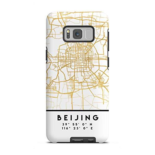 artboxONE Tough-Case Handyhülle für Samsung Galaxy S8 Plus Beijing China Street MAP Art von Emiliano Deificus