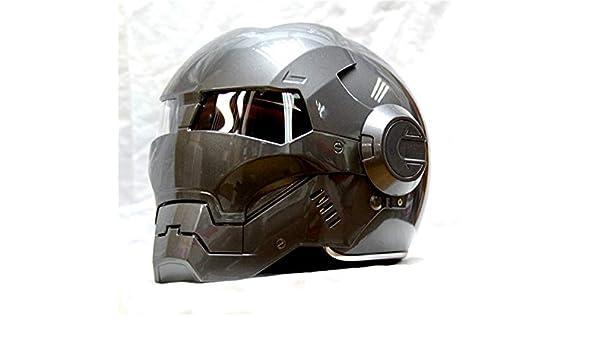 Iron Man motorcycle helmet Masei bike scooter gray Classic half helmet open face