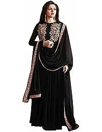 Special Mega Sale Festival Offer C&H Black Georgette Semi-Stitched Anarkali Suits