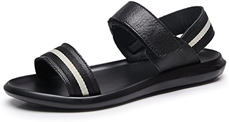 Zapatos de Hombre Cuero Confort Sandalias Zapatillas de Al Aire Libre Negro