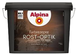 Alpina Farbrezepte Rostoptik bis 10m² Set Rost Optik Kreativ Effekt Rostfarbe