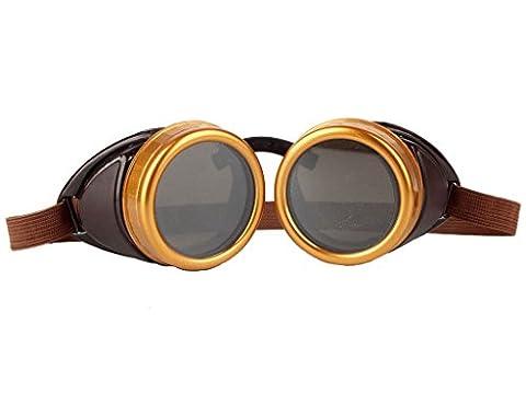 ZAIQUN Vintage Style Steampunk Goggles Welding Punk Glasses