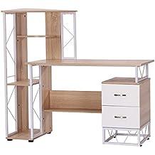 mesa de ordenador pc para oficina despacho escritorio dormitorio escuela estante xxcm madera