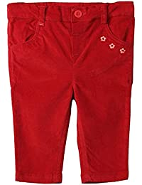 Beebay Infant-girl 97% Cotton, 3% Elastane Flower Embroidery Corduroy Trouser (Maroon)