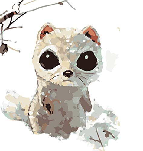 Kinder Und Erwachsene Leinwand Farbe DIY Set, Home Decorating Ölgemälde Big Eye Cat (Kein Rahmen) Anfänger Digital Paint Set 16 X 20 Zoll